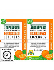 TheraBreath Dry Mouth Lozenges, mandarin mint Flavor, 100 Lozenges (Pack Of 2)