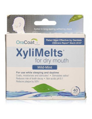 Xylimelts for Dry Mouth, Size 40ct Mild Mint - (4 pc)