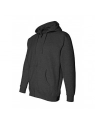 Independent Trading Co. Mens Full-Zip Hooded Sweatshirt (IND4000Z) Charcoal Heather XL