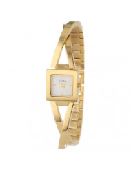 Titan Workwear Women's Contemporary Bracelet Watch - Quartz, Water Resistant - Gold Band and White Dial
