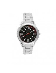 Titan Workwear Men's Designer Watch - Quartz, Water Resistant, Stainless Steel Strap - Silver Band and Black Dial