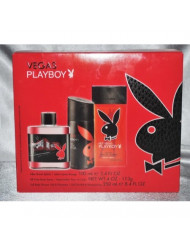 Vegas Playboy Cologne Set Aftershave, Body Spray, Gel/Shampoo