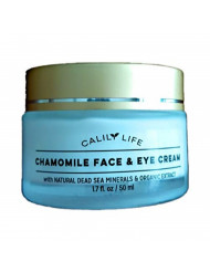 Calily Life Chamomile Face Cream for Face and Eye with Dead Sea Minerals, 1.7 Oz. - Calming and Soothing for Sensitive and irritated Skin - Deep Moisturizing, Anti-Aging and Reduces Puffiness