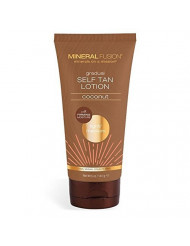MINERAL FUSION Gradual Self Tan Lotion Light Medium Coconut, 5 Ounce