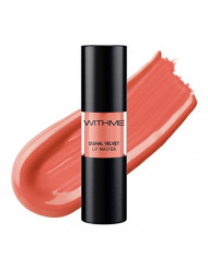 WITHME Signal Velvet Lip Master (Trendy Signal) [K-beauty] A lightweight lip stain with a revolutionary formula for ultra-matte, high impact color and a lightweight, naked-lip feel.