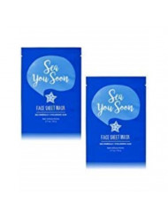 Bath and Body Works 2 Pack Face Sheet Mask with Supercharged Ingredients. Sea you soon 0.7 Oz