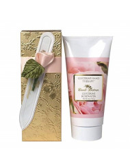 Camille Beckman Romantic Manicure Gift Set, Glycerine Rosewater, Glycerine Hand Therapy 6 oz, Premium Crystal Nail File