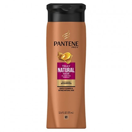 Pantene Truly Natural Shampoo 12.6 Ounce (375ml) (3 Pack)