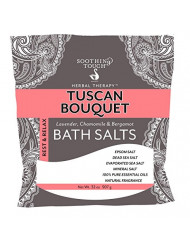 Soothing Touch Rest & Relax Tuscan Bouquet Bath Salts Lavender Chamomile & Bergamot 32 Oz