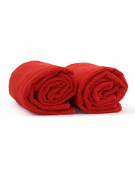 """Red Salon Hand Towels 2 Pack - 100% Microfiber, Maximum Absorbency, Super Soft, Ultra Plush - For Hair Drying, Face, Hands, Body or Gym - 16"""" x 27"""" - HairDay Care ..."""