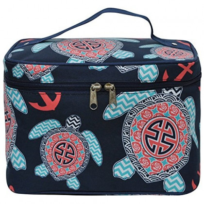Sea Turtle Anchor NGIL Large Top Handle Cosmetic Case