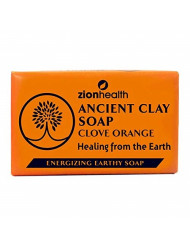Zion Health Ancient Clay Soap, Clove Orange, 6 oz (170 g)