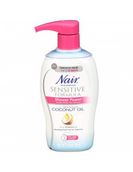Nair Shower Power Sensitive Formula Coconut Oil & Vit E - Hair Remover 12.6 Oz