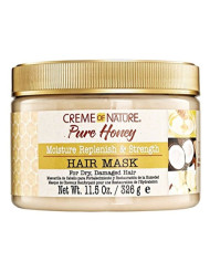 Creme Of Nature Pure Honey Hair Mask 11.5 Ounce Jar (340ml) (3 Pack)