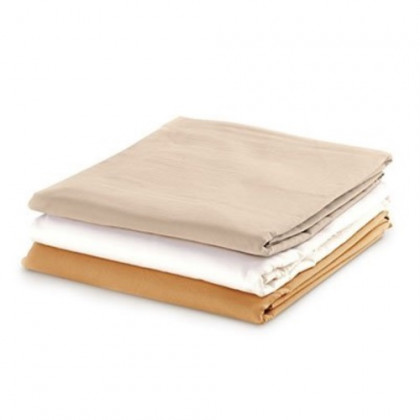 """Fitted Sheet - 36""""W X 77""""L X 7""""D - Cotton Flannel - Tan - 15-3750CFT"""