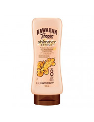 HAWAIIAN TROPIC SHIMMER EFFECT SUN LOTION WITH MICA MINERALS SPF8 LOW 180ML