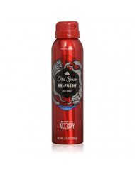 Old Spice Wild Collection Re-Fresh Deodorant Body Spray, Wolfthorn 3.75 oz (Pack of 4)