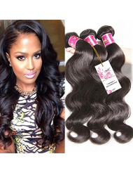 Unice Hair 18 20 22 24inch Brazilian Body Wave Weft 4bundles 100% Real Unprocessed Virgin Brazilian Human Hair Extensions Natural Black Color