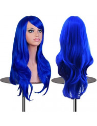EmaxDesign Wigs 28 Inch Cosplay Wig For Women With Wig Cap and Comb (Dark Blue)