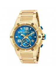 Invicta Speedway Chronograph Blue Dial Gold Ion-plated Mens Watch 19532
