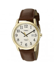Timex Men's TW2P75800 Easy Reader 38mm Brown/Gold-Tone/Cream Leather Strap Watch