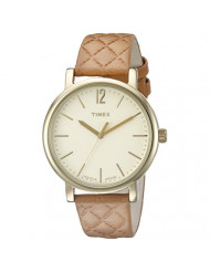 Timex Women's TW2P78400AB Heritage Collection Watch With Beige Synthetic Band