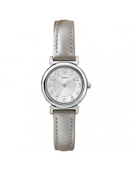 Timex Women's Tracey Avenue Metallic Leather Strap Silver-Tone Dial T2P429