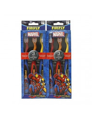 Firefly Marvel Soft Toothbrush, 6 Count (2 Packs of 3 Each)