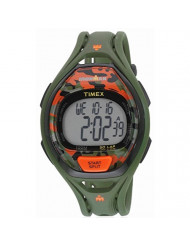 Timex Unisex TW5M01200 Ironman Sleek 50 Green/Orange Camo Resin Strap Watch