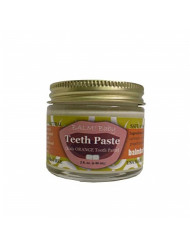 BALM Baby Teeth Paste All Natural Fluoride Free Kids Toothpaste with Xylitol Glass Jar Made in USA (Orange)