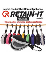Retain-It - The Safe, Clip-on, Retainer, Mouth Guard and Dental Appliance Storage Solution! (White)