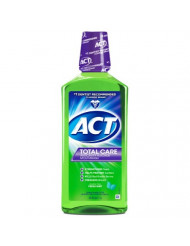 ACT Total Care Anticavity Fluoride Mouthwash, Fresh Mint, 33.8 Fl Oz (Pack of 1)