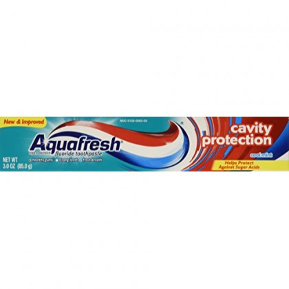 Aquafresh Cavity Protection Tube Cool Mint, 3 Ounce Pack of 4