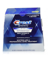 Crest 3D No Slip Whitestrips Professional Effects Teeth Whitening Kit 20 ea