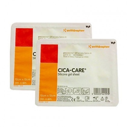 Cica Care Silicone Gel Sheeting 5 x 6 Inch, Sterile 2 packs