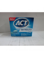 ACT Total Care Dry Mouth Lozenges Mint 36 Count Per Box (6 Boxes)