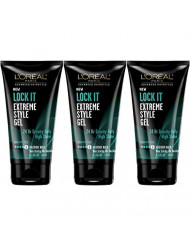 L'Oreal Lock It Extreme Style Gel, 5.1 Ounce (3 Pack)