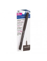 Maybelline Unstoppable Unstoppable Smudge-Proof Eyeliner, Waterproof, Espresso [702], 0.01 oz (Pack of 4)