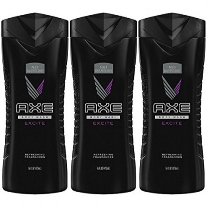 Axe Shower Gel, Excite 16 Ounce (Pack of 3)