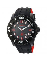 Invicta Men's Pro Diver Stainless Steel Automatic-self-Wind Diving Watch with Silicone Strap, Black, 25 (Model: 20205)