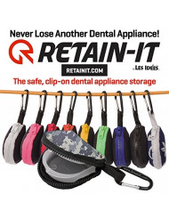 Retain-It - The Safe, Clip-on, Retainer, Mouth Guard and Dental Appliance Storage Solution! (Camouflage)