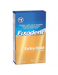 Fixodent Denture Adhesive Powder Extra Hold 2.70 oz (Pack of 3)