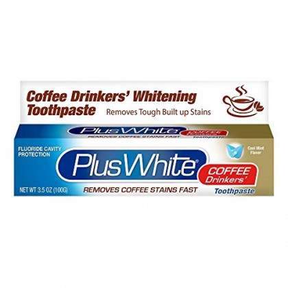 PLUS WHITE Coffee Drinkers' Whitening Toothpaste, 3.5 Oz (2 Pack)