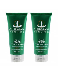 Clubman Pinaud 2-in-1 Beard Conditioner and Face Moisturizer, 3 oz x 2 pack