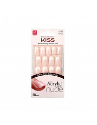 Kiss Salon Acrylic Nude French Nails 28 Count (Cashmere) (2 Pack)