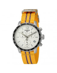 Tissot Men's 'Quickster' Swiss Quartz Stainless Steel and Nylon Watch, Color:Yellow (Model: T0954171703705)