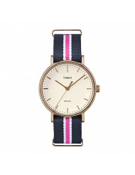Timex Weekender Fairfield Navy/Pink Nylon Strap Watch TW2P91500