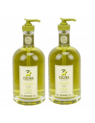 Cucina Purifying Hand Wash Coriander and Olive Tree 16.9 Fl Oz Glass Bottle by Cucina