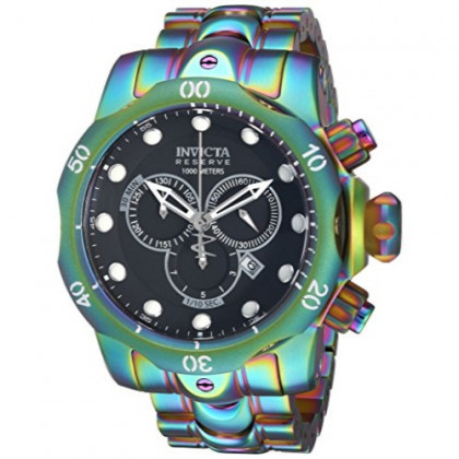 Invicta Men's Reserve Quartz Watch with Stainless-Steel Strap, Multi, 26 (Model: 19764)