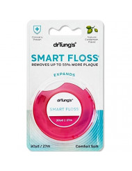 Dr. Tung's Smart Floss 30 yds Natural Cardamom Flavor for a Vibrant Fresh Feeling, Removes up to 55% more Plaque - BIODEGRADABLE Container, Great for Braces and Wide Spaces, Colors May Vary (6 Count)
